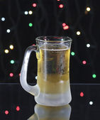 A Frosty Amber Beer on Christmas Eve — Stock Photo