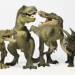 Group of Six Dinosaurs in Row — Stock Photo #8053371