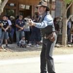 Постер, плакат: A Gunfighter at Helldorado Tombstone Arizona