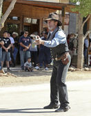 A Gunfighter at Helldorado, Tombstone, Arizona — Stock Photo