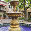 A Lovely Fountain in a Mexican Courtyard — Stock Photo #8068330
