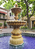 A Lovely Fountain in a Mexican Courtyard — Stock Photo