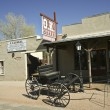 Stock Photo: Wagon at O.K. Corral, Tombstone, Arizona