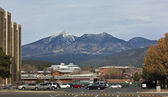 A View of the NAU Campus and the San Francisco Peaks — Stock Photo