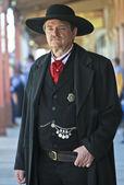 A Stoic Wyatt Earp of Helldorado, Tombstone, Arizona — Stock Photo