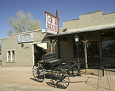 A Wagon at the O.K. Corral, Tombstone, Arizona — Stock Photo