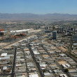 Aerial View of Downtown Las Vegas, Nevada - Stock Photo