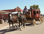 A View of a Stagecoach, Tombstone, Arizona — Stock Photo