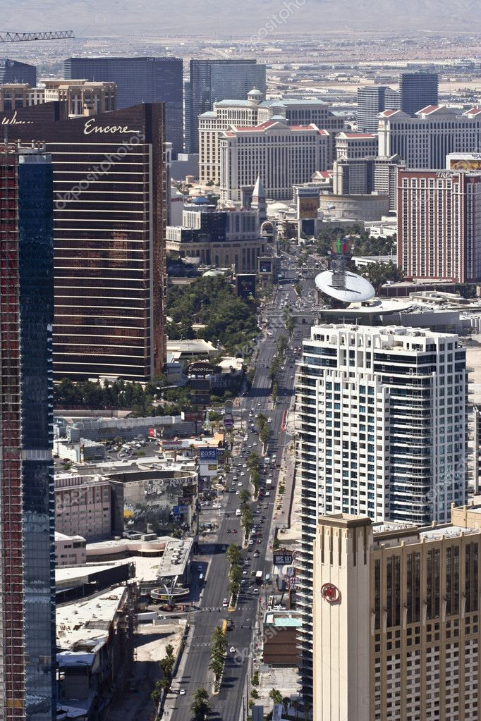 The Strip on June 9, 2011, in Las Vegas, Nevada. An aerial view. — Stock Photo #8096648
