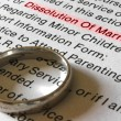 Stock Photo: Divorce Petition and Gold Wedding Band