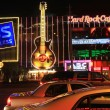 Stock Photo: Night shot of Hard Rock Cafe