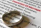 A Divorce Petition and Gold Wedding Band — Stock Photo
