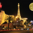 A full moon over Paris on the Strip — Stock Photo #8135051