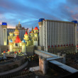 A twilight view of the Excalibur Hotel and Casino — Stock Photo
