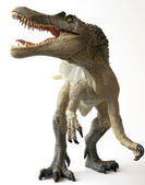 A Spinosaurus Dinosaur with Gaping Jaws and Sharp Teeth — Stock Photo
