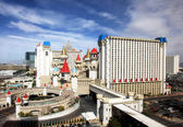 A sunny view of the Excalibur Hotel and Casino — Stock Photo