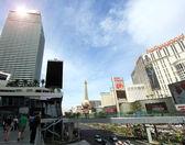 A sunny shot of Las Vegas Boulevard — Stock Photo