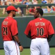 ArizonDiamondbacks Outfielders Chris Young and Juston Upton — Stock Photo #8141040