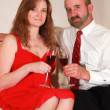 A Husband and Wife Toast on Valentine's Day — Stock Photo