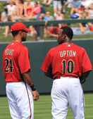 Arizona Diamondbacks Outfielders Chris Young and Juston Upton — Stock Photo