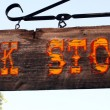 An Antique Book Store Sign — Stock Photo