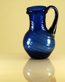 A Blue Glass Pitcher — Photo