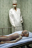 A Dead Alien Recovered from the Roswell UFO Crash — Stock Photo