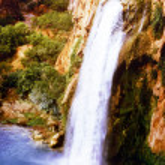 A View of Havasu Falls in Havasu Canyon, Arizona — Stock Photo
