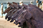A Line of Terracotta Horses, Xi'an, China — Stock Photo