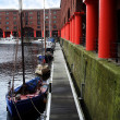 Line of boats await their masters at Albert Dock, Liverpool, in Engla — Stock Photo #8293993