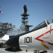 Stock Photo: F-4 Phantom and USS Midway Island Superstructure