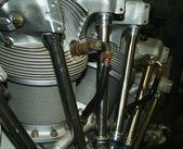 A Close Up of an Aircraft Engine — Stock Photo