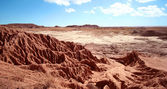 An Erosion of Red Bluffs in Petrified Forest — Stok fotoğraf