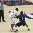 Stock Photo: Ref Whistles Foul in ArizonBasketball Game