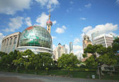 A City Park in Pudong, Shanghai, China — Stock Photo