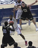 A Defensive Move by Arizona Wildcat Kevin Parrom — Stock Photo