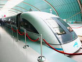 A Shanghai Transrapid Maglev, or Bullet, Train — Stock Photo