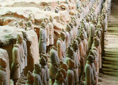 Lines of Terracotta Army Soldiers, Xi'an, China — Stock Photo