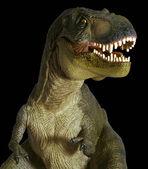 Ein Tyrannosaurus-Jagd vor einem schwarzen Hintergrund — Stockfoto