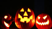 Three Jack-o-lanterns — Stock Photo