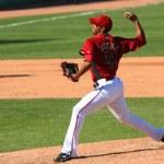 ������, ������: Esmerling Vasquez pitches in an Arizona Diamondbacks game