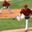 Pitcher Blaine Boyer in an Arizona Diamondbacks game - Stock Photo
