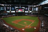 Chase Field in Phoenix, Arizona, Home of the Arizona Diamondbacks — Stock Photo
