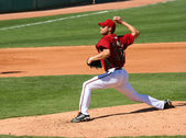 Arizona Diamondbacks pitcher Aaron Heilman in a game — Stock Photo