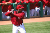 Arizona Diamondback Justin Upton Bats in Spring Training — Stock Photo