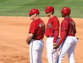 Matt Williams, Kelly Johnson and Justin Upton — Stock Photo