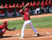 Arizona Diamondback Stephen Drew Bats in Spring Training — Stock Photo