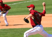 Arizona Diamondback Bryan Augenstein Pitches — Stock Photo