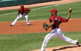 Arizona Diamondback Right Hander Edwin Jackson Pitches — Stock Photo