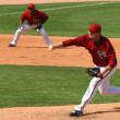 Постер, плакат: Arizona Diamondback Right Hander Chad Qualls Pitches